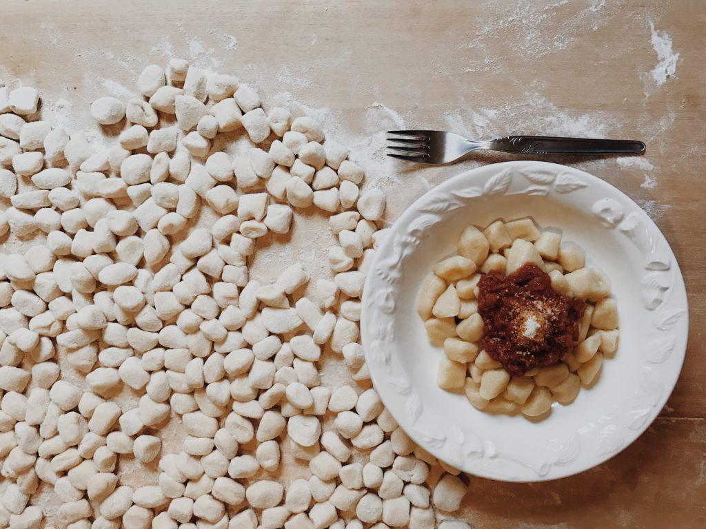 preparare gli gnocchi - ricetta finita degli gnocchi fatti in casa